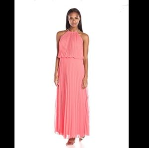 MSK Pleated Halter Maxi